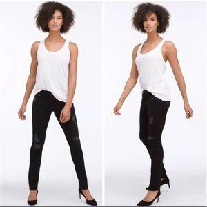 AG the stilt cigarette leg distressed black jeans